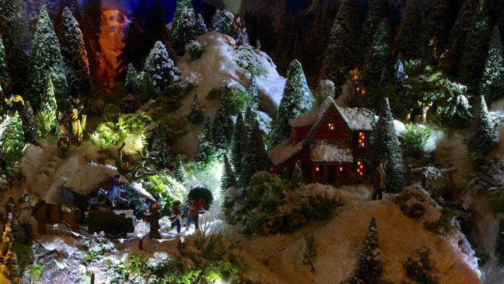 Village de Noël/Christmas Village 2014 de nuit: Derniers chargements