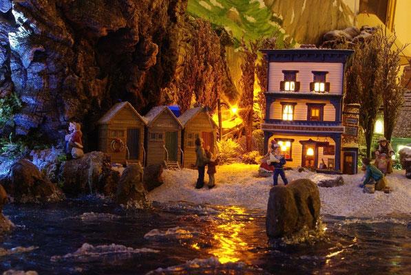 Village Noël/Christmas Village 2013, la nuit: Jeux de bord de mer