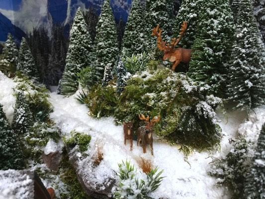 Village Noël /Christmas Vilage 2014, les hauteurs: Famille ours