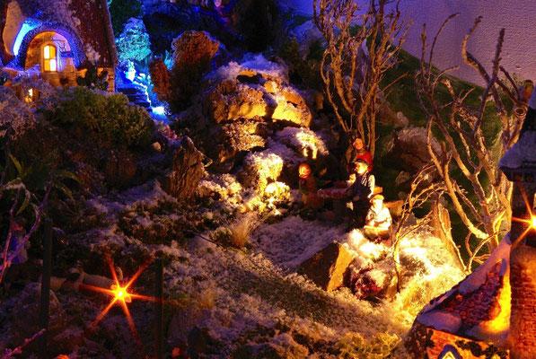 Village Noël/Christmas Village 2013, la nuit: Pique-nique nocturne