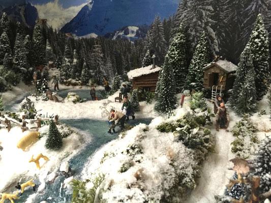 Village Noël /Christmas Village 2014, les hauteurs: Jeux de glisse