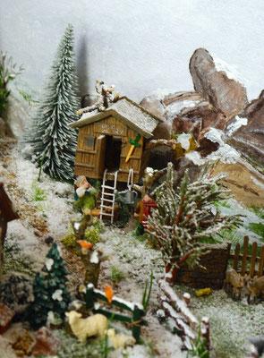 Village Noël/Christmas Village 2013 : Cabane et jeux d'enfants