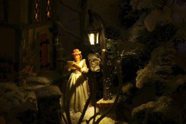 Village de Noël/Christmas Village 2014 de nuit: Bonne nouvelle!