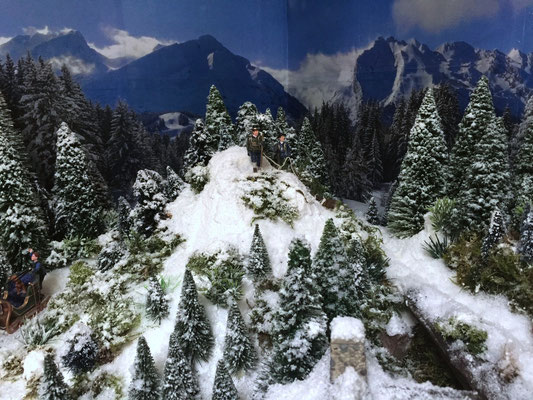 Village Noël /Christmas Vilage 2014, les hauteurs: Arrivés au sommet