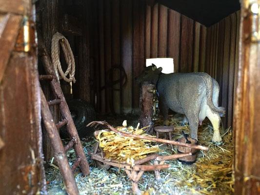 Vieille grange de Sully: : La vache dans son étable