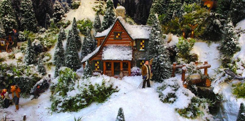 Village Noël /Christmas Village 2014, les hauteurs: Départ au ski