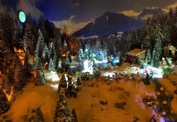 Village de Noël/Christmas Village 2014 de nuit: Paysage nocturne