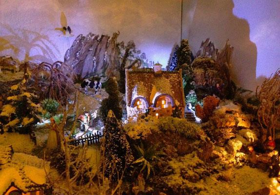 Village Noël/Christmas Village 2013, la nuit: Hauts de village