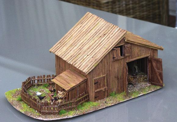 Vieille grange de Sully: Façade côté poulailler