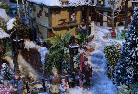 Village de Noël/Christmas Village 2014: Escaliers vers le village