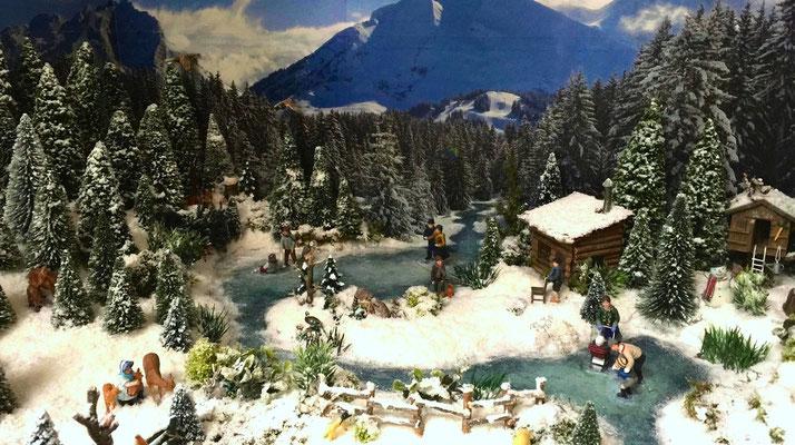 Village Noël /Christmas Vilage 2014, les hauteurs : Le lac gelé