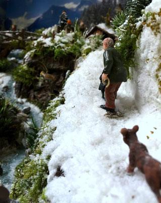 Village de Noël/Christmas Village 2014: Promenade avec les chiens