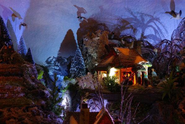 Village Noël/Christmas Village 2013, la nuit: La ferme