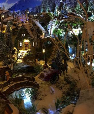 Village de Noël/Christmas Village 2014 de nuit: Dernier chargement de grains