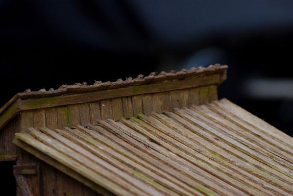 Vieille grange de Sully: Détail du toit