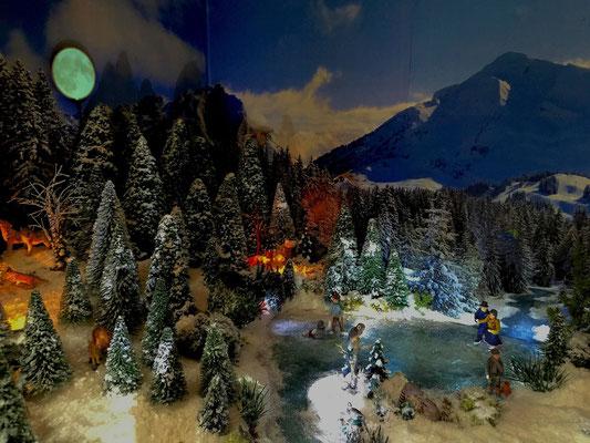 Village de Noël/Christmas Village 2014 de nuit: Patinage de nuit