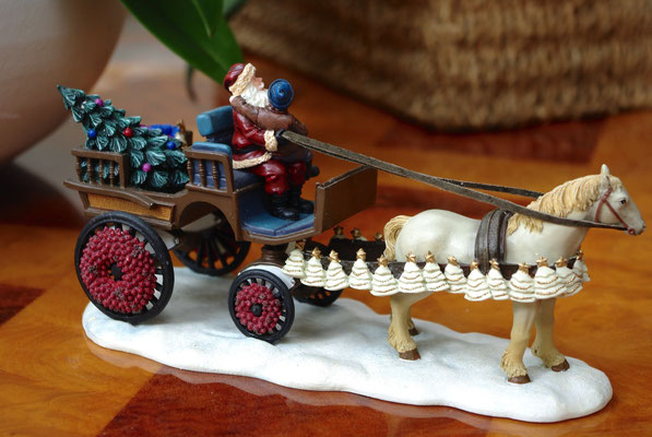 Santa and child on carriage - 600718 - vue 2