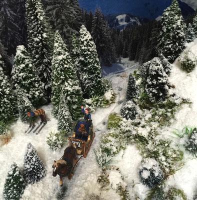 Village Noël /Christmas Vilage 2014, les hauteurs: De retour de promenade