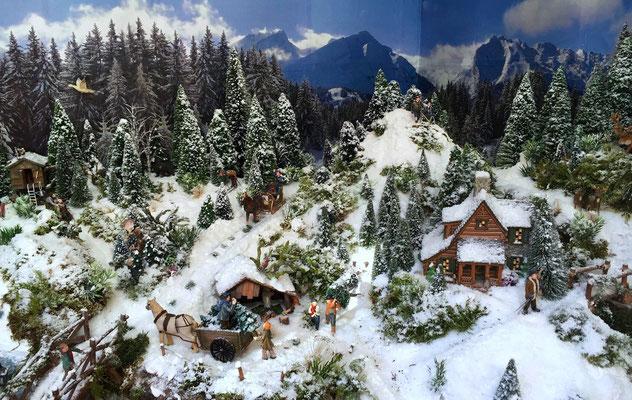 Village Noël /Christmas Vilage 2014, les hauteurs: Vue d'ensemble
