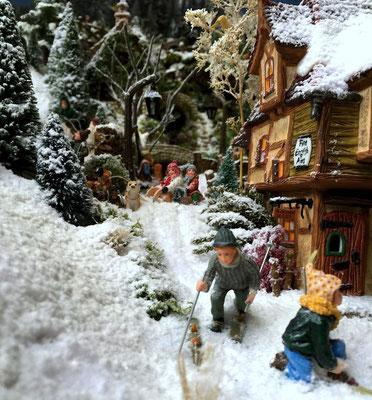 Village de Noël/Christmas Village 2014: C'est fini pour nous , on déchausse !