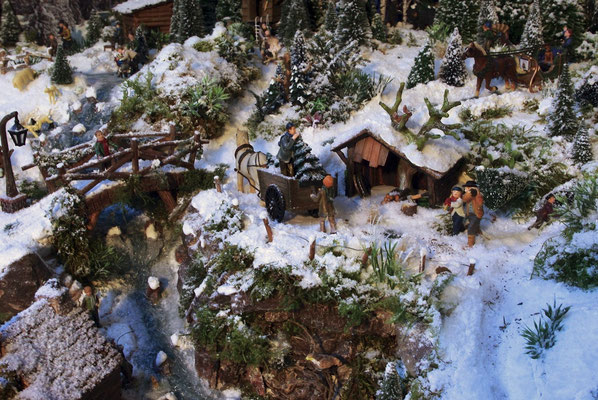 Village Noël /Christmas Village 2014, les hauteurs: C'est le moment de la coupe...