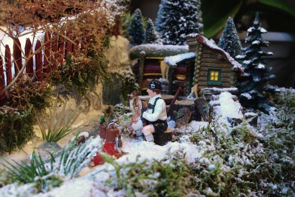 Village de Noël/Christmas Village 2014: Retraite dans la cabane en rondins