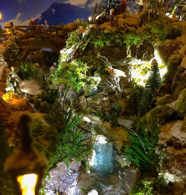 Village de Noël/Christmas Village 2014 de nuit: Torrent la nuit
