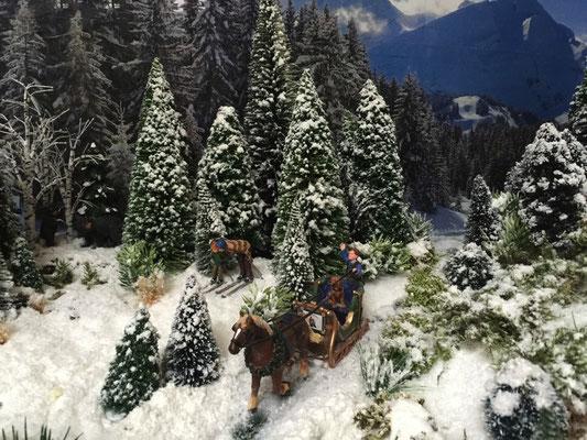 Village Noël /Christmas Vilage 2014, les hauteurs: Un bel attelage