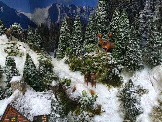Village Noël /Christmas Vilage 2014, les hauteurs: Famille de cervidés