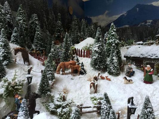 Village Noël /Christmas Village 2014, les hauteurs: Un chien bien occupé