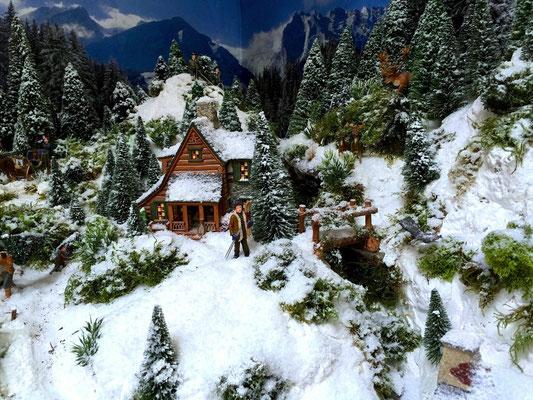 Village Noël /Christmas Village 2014, les hauteurs: ... en pleine nature