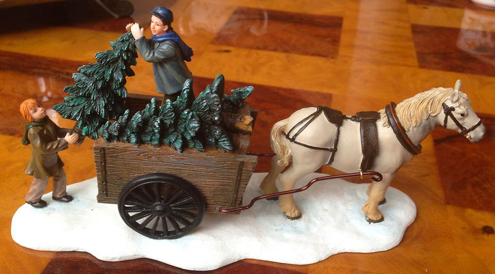 Lifting trees from a carriage - 600728 - vue 1