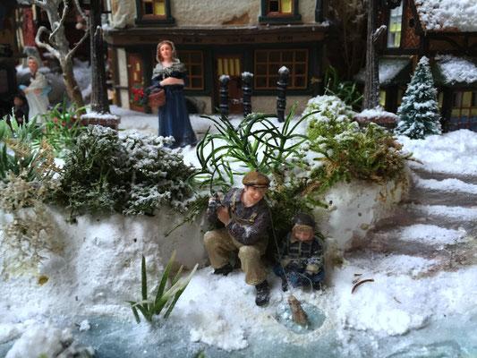Village de Noël/Christmas Village 2014: Pêcheurs de glace