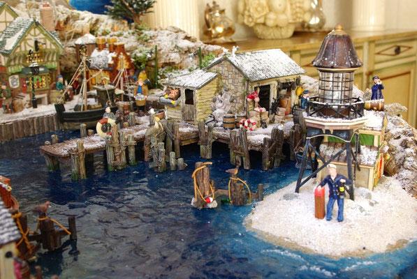 Village Noël/Christmas Village 2013: Vieux dock et balise