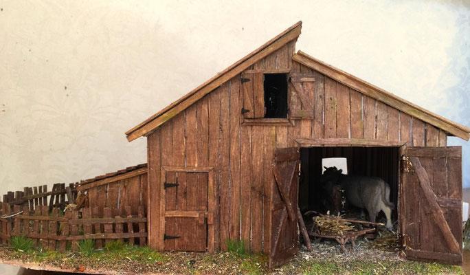 Vieille grange de Sully:  Vue sur l'étable