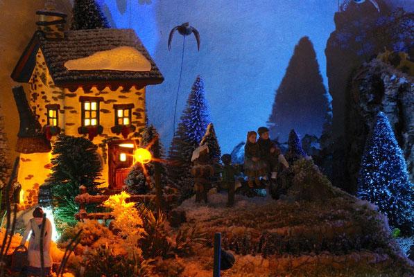 Village Noël/Christmas Village 2013, la nuit: Crépuscule