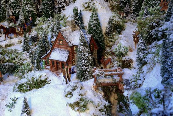 Village Noël /Christmas Village 2014, les hauteurs: Un visiteur inattendu