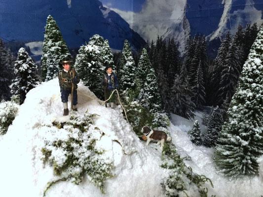 Village Noël /Christmas Vilage 2014, les hauteurs: Une belle cordée