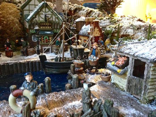 Village Noël/Christmas Village 2013: Vente de poisson frais