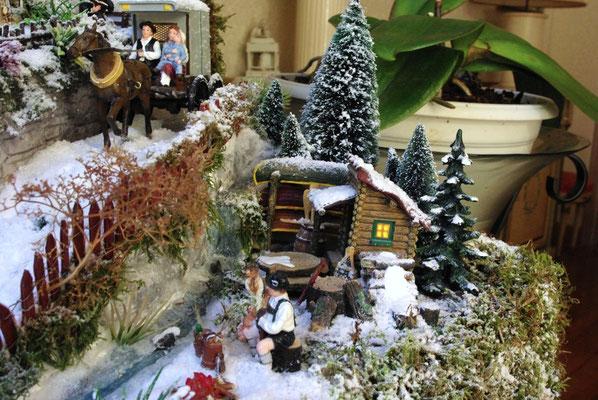 Village de Noël/Christmas Village 2014: Sous la route, un petit coin tranquille