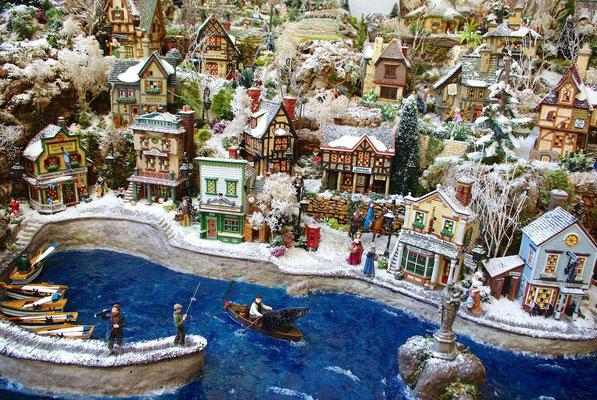 Village Noël/Christmas Village 2013: Maisons sur les quais