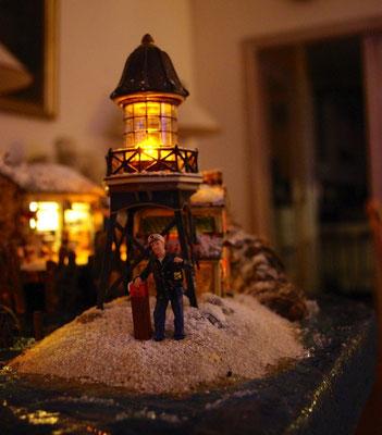Village Noël/Christmas Village 2013, la nuit: Entrée du port