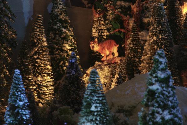 Village de Noël/Christmas Village 2014 de nuit: Redoutable lynx