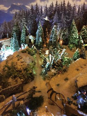 Village de Noël/Christmas Village 2014 de nuit: Fin de journée