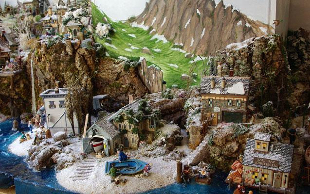 Village Noël/Christmas Village 2013: Les maisons sur le sable