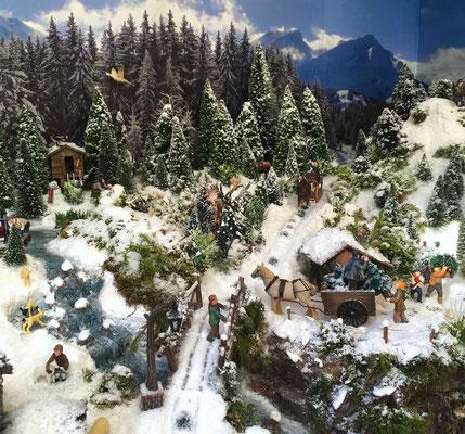Village Noël /Christmas Vilage 2014, les hauteurs: Du haut du pont...