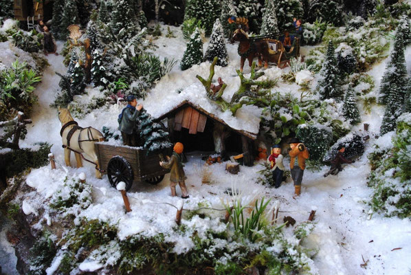 Village Noël /Christmas Village 2014, les hauteurs: ...et du chargement