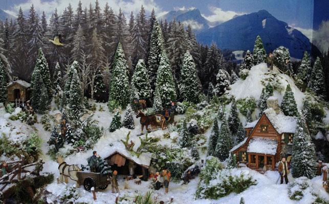 Village Noël /Christmas Vilage 2014, les hauteurs: Scène de vie
