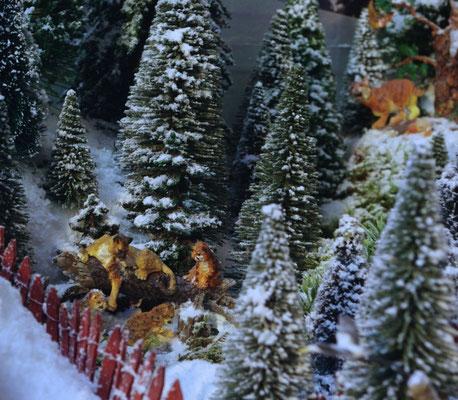 Village Noël /Christmas Village 2014, les hauteurs: Famille de pumas