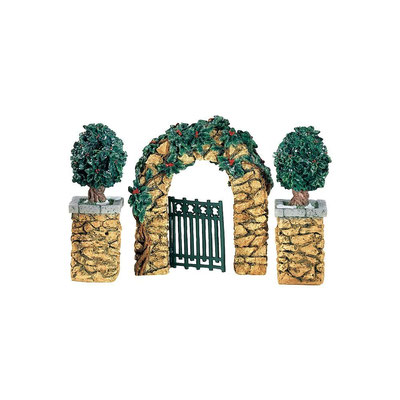 Stone holly corner posts ans archway - 56-52648 - Vue 1